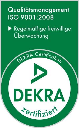 DECRA Zertifikat ISO9001:2008